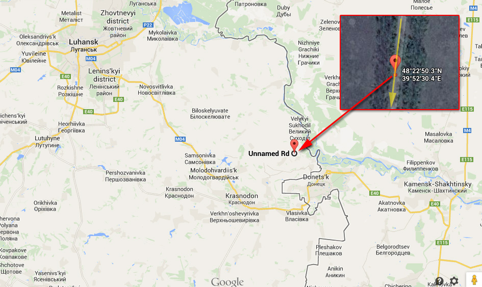 Russian Army column location