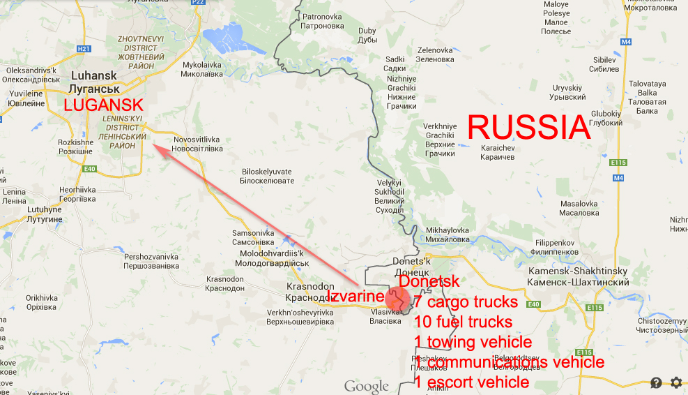 Russian Convoy crossed Ukrainian border