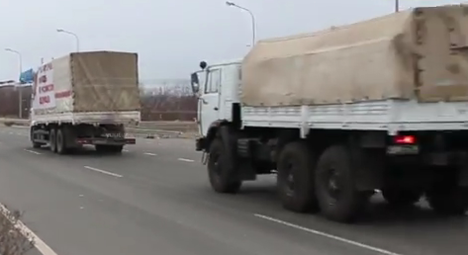 Russian Convoy trucks