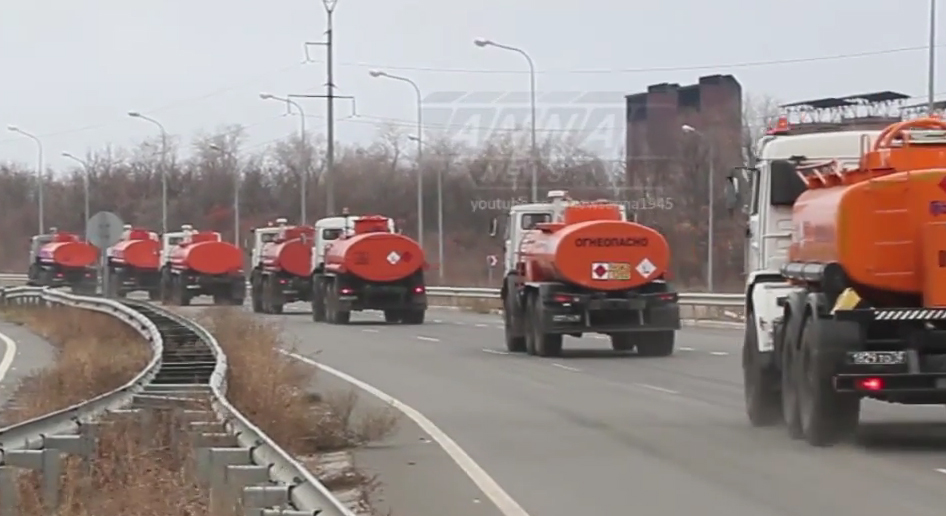 Russian fuel tucks going to Lugansk