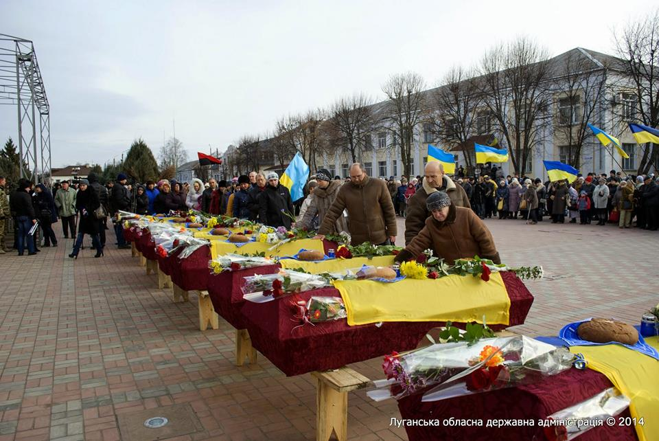 Funerals of Ukrainian soldiers in Starobelsk