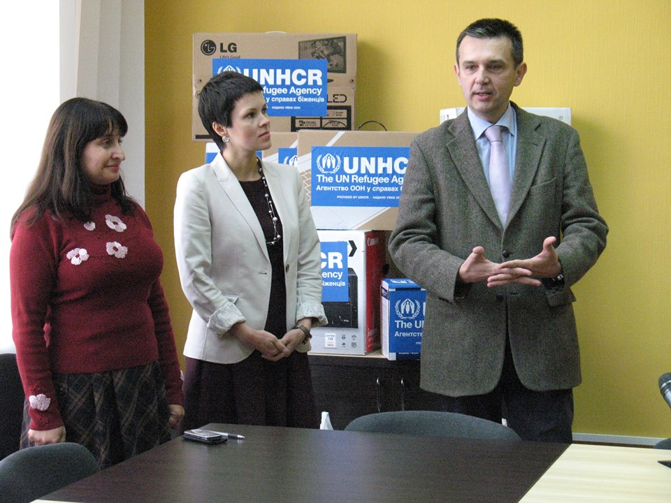 Wojciech Trojan, officer of United Nations High Commissioner for Refugees in Severodonetsk