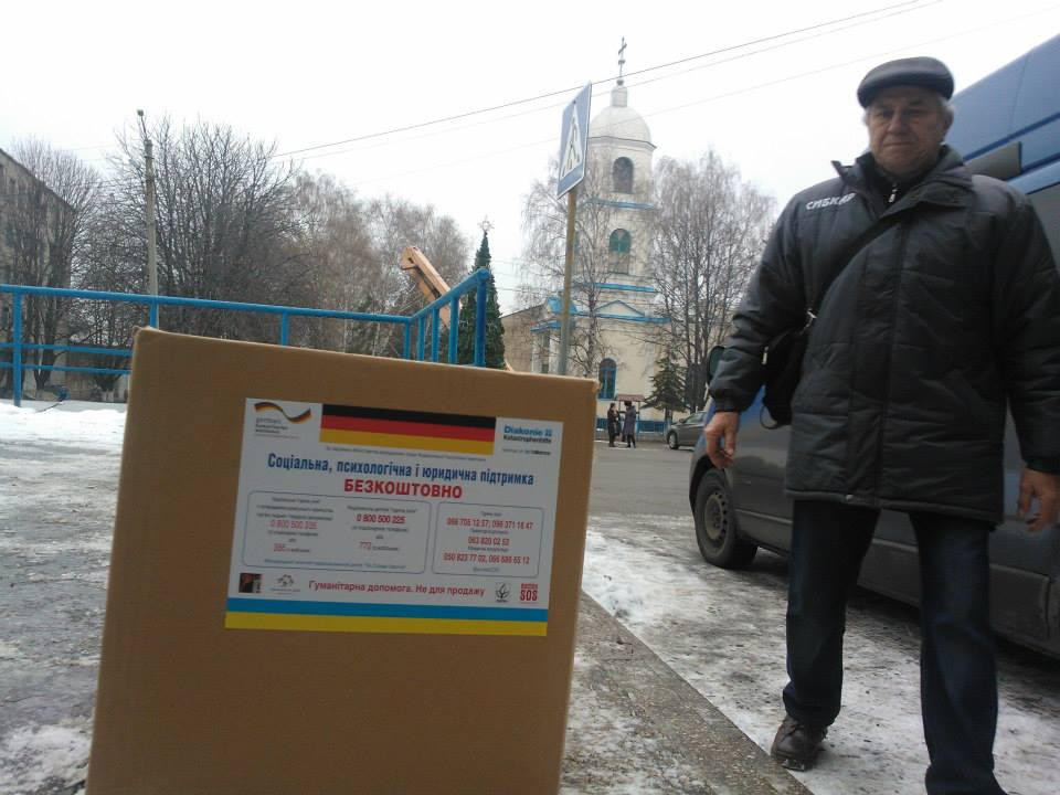 Vostok-SOS delivered humanitarian aid to Popasna
