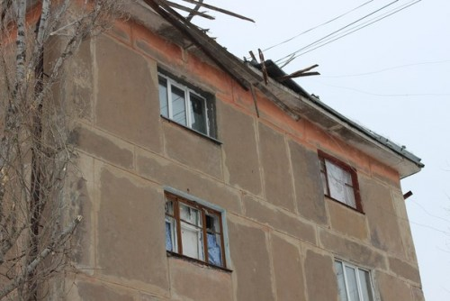 Damage after terrorists of LPR were shelling at Shchastya
