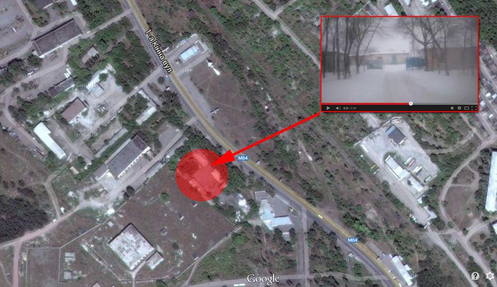 Entrance to terrorist base in Krasnodon on the map