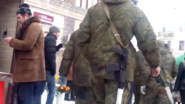 Russian Unit in Lugansk with AS Val riffle