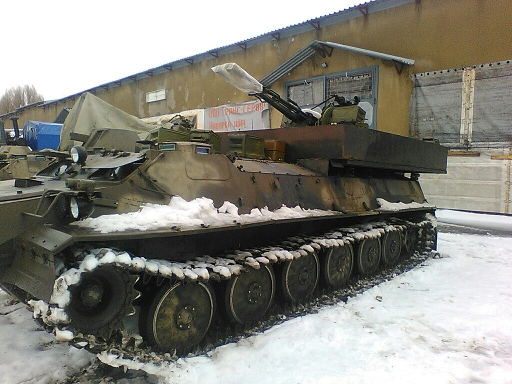 Russian armored vehicle in Lugasnk