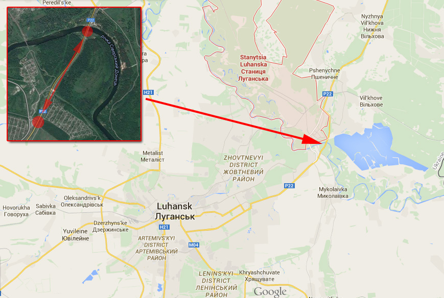 Terrorists attacked Ukrainian Army checkpoint at Stanitsia Luhanska