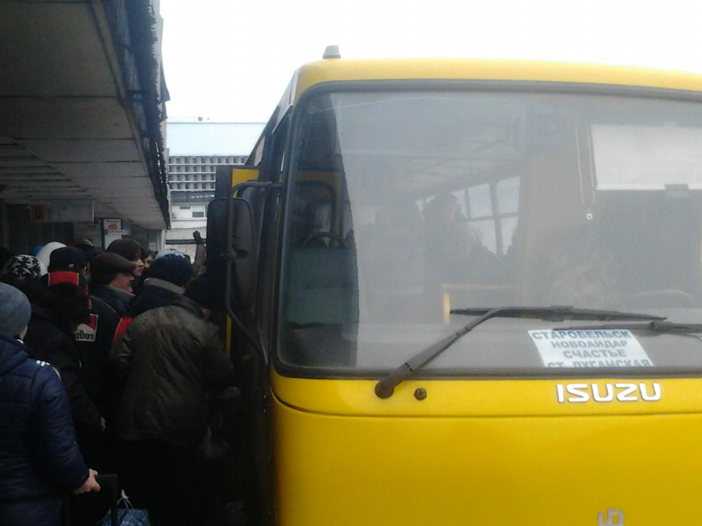 Bus from Lugansk to Starobelsk