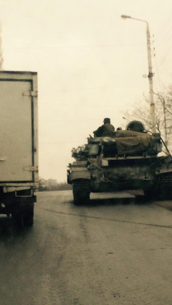 Russian tanks in Bryanka
