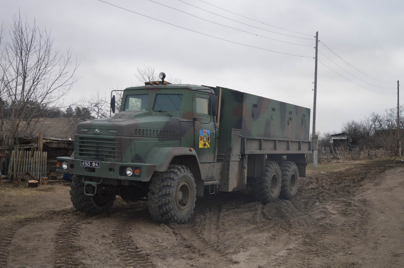 KRAZ armored truck brought humanitarian aid to Krymske
