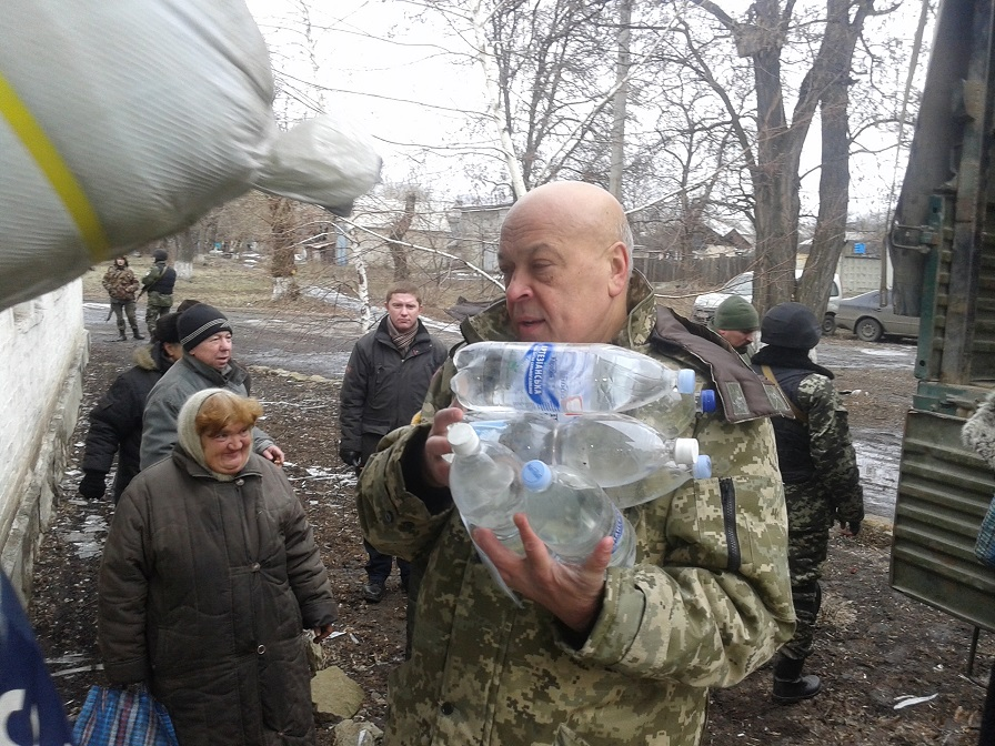 Moskal brought humanitarian aid to Novotoshkivske on the front line