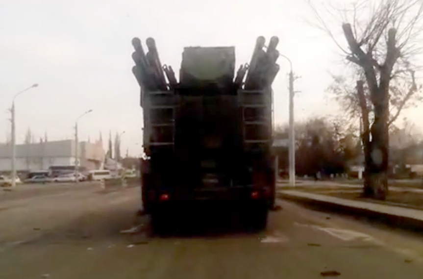 Russian Army Pantsir-S1 in Lugansk