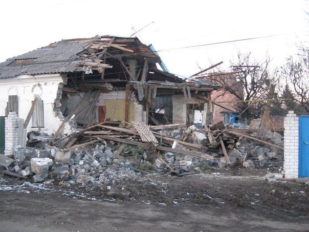 Destruction in Popasna