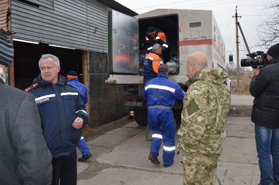 Moskal brought humanitarian aid to Bolotene and Syze villages
