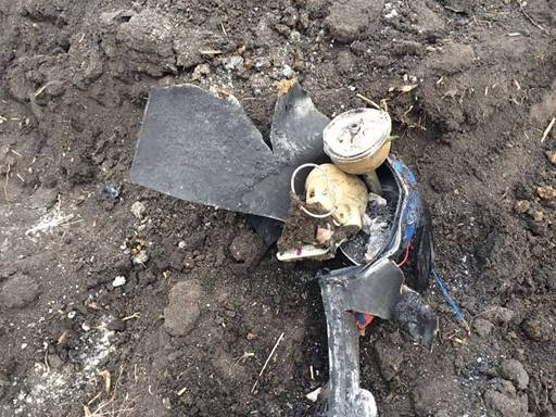 SSU found a bomb near Lysychansk