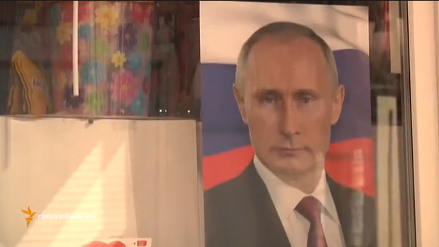 Putin's photo in Svetlana Aleksandrovna's room