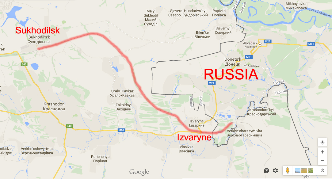 Railway line used by Russia to send ammo to the terrorists in Ukraine