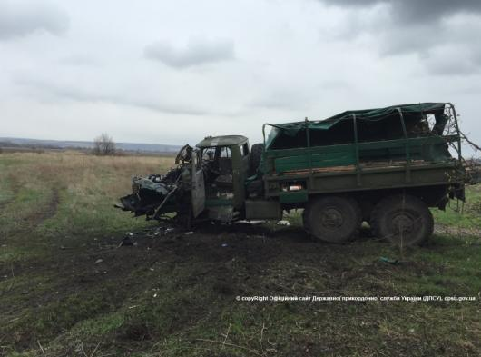 Border Guard truck blown up near Krasna Talivka
