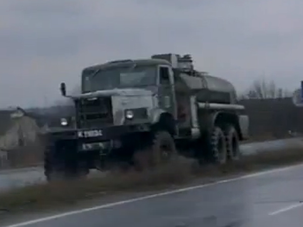 Fuel truck in the convoy