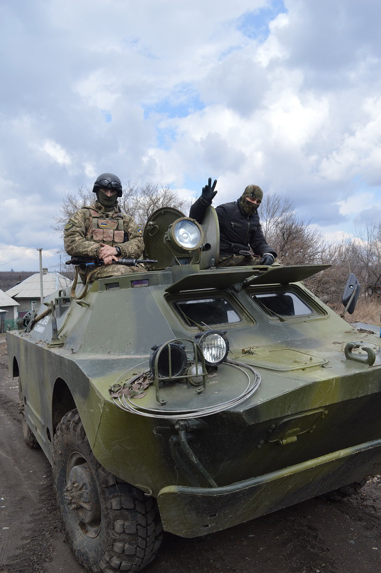 Ukrainian soldiers that accomponied Moskal to Katerynivka one month ago