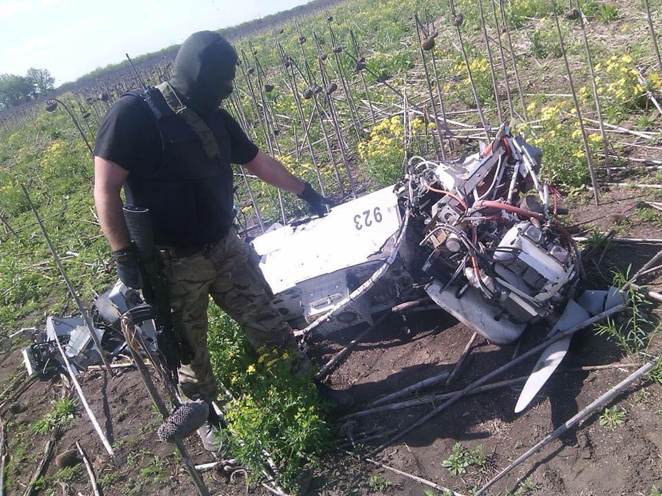 Remains of Russian Army FORPOST UAV shot down in Ukraine