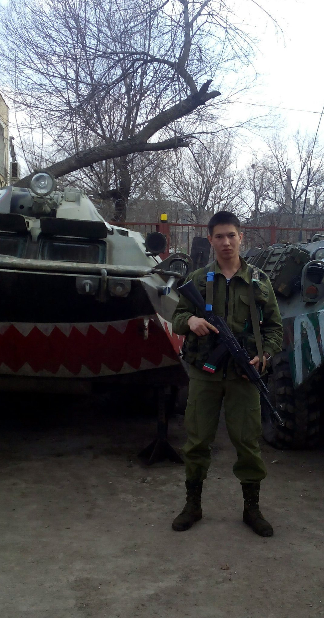 Russian soldier Timur Mamayusupov in Lugansk