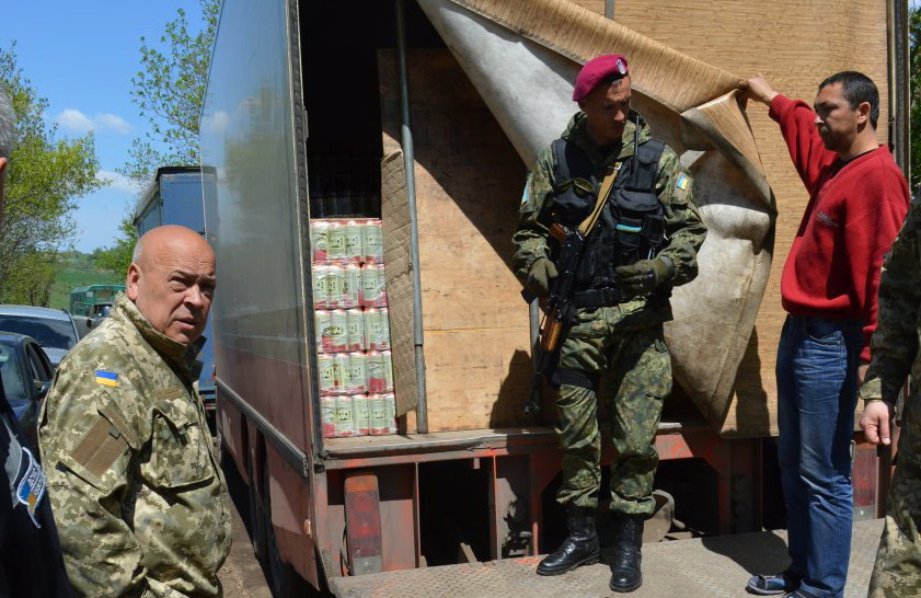 Moskal stopped trucks with beer that tried to get to Lugansk illegally