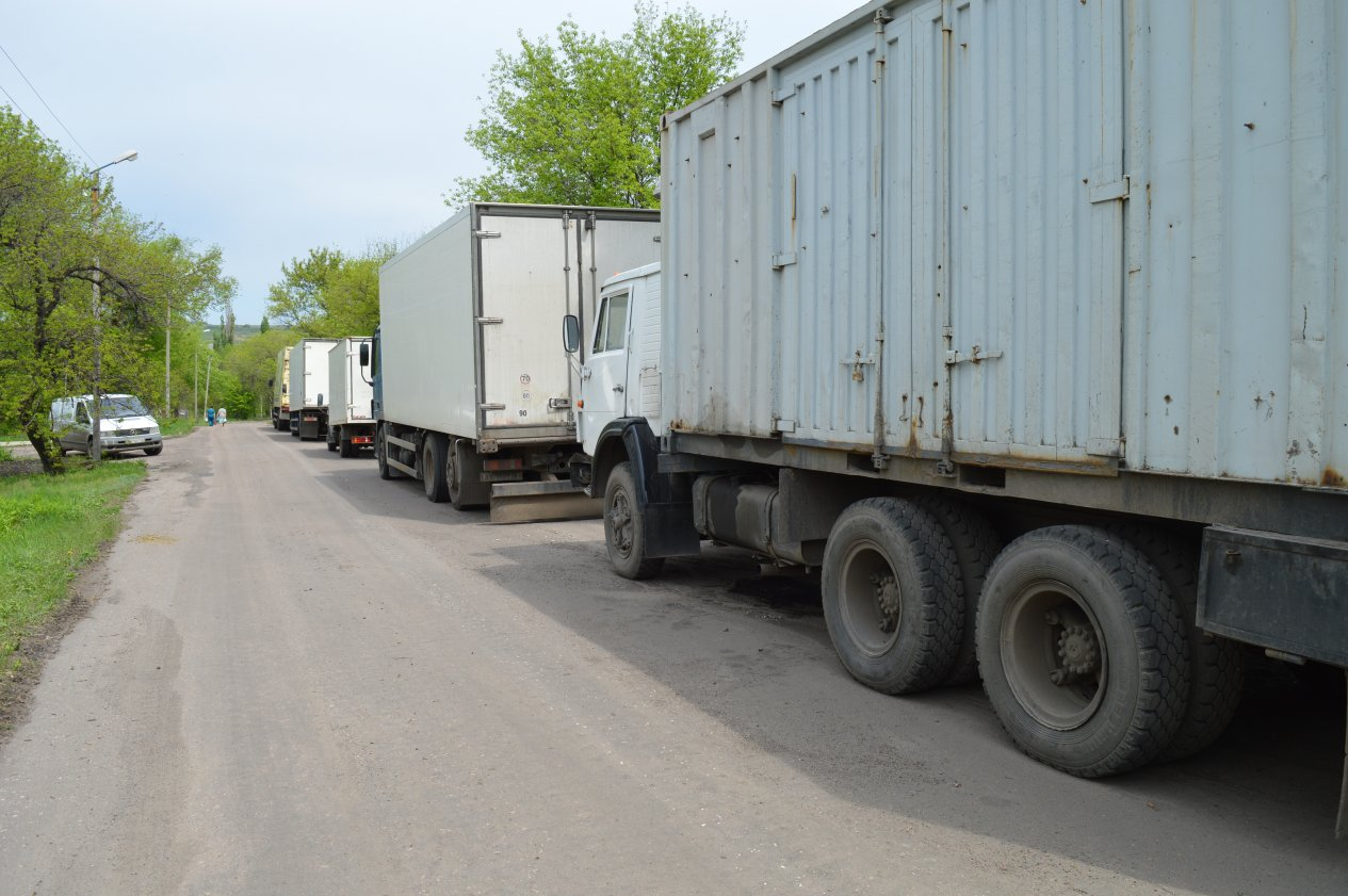 Illegal cargo trucks found near demarcation line in Lugansk Region