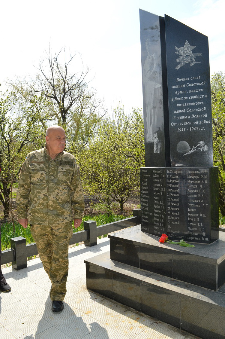 Monument to soldiers killed in WWII located in Orihove
