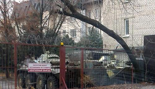 1st photo of Russian Army base in Lugansk posted on December 21 2014