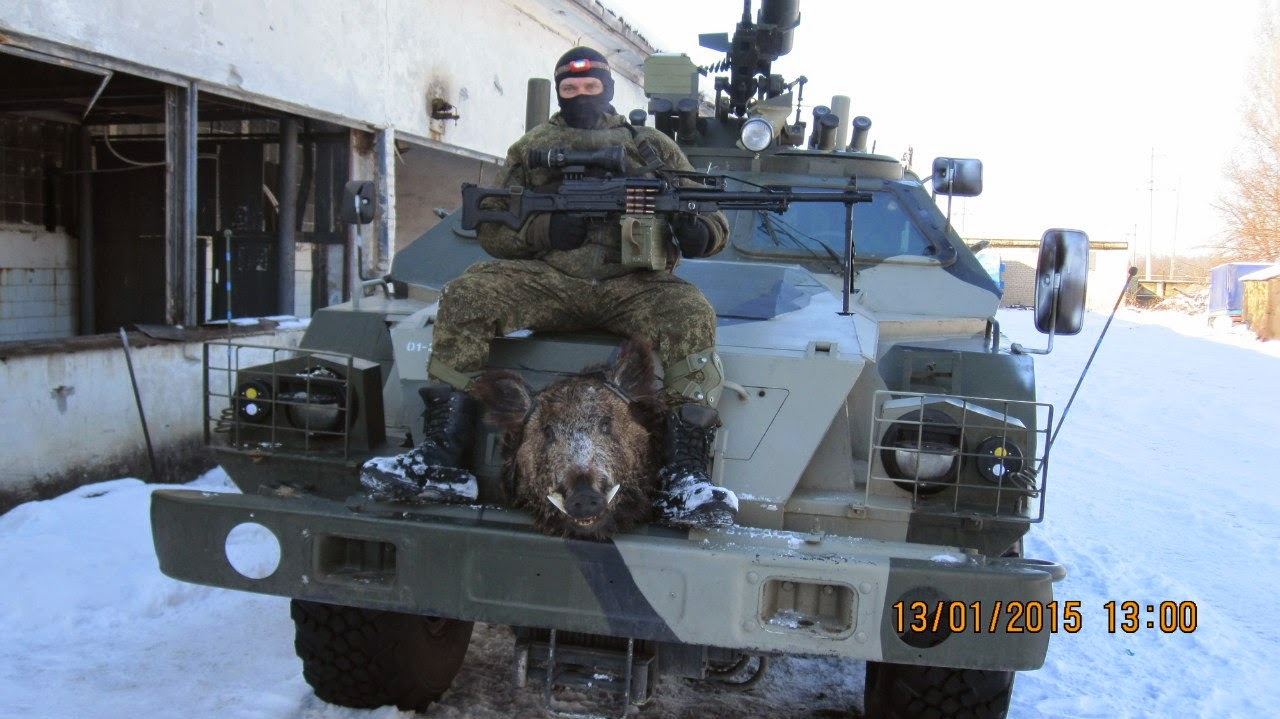 "Russian soldier on BPM-97 ""Vystel"" in Ukraine"
