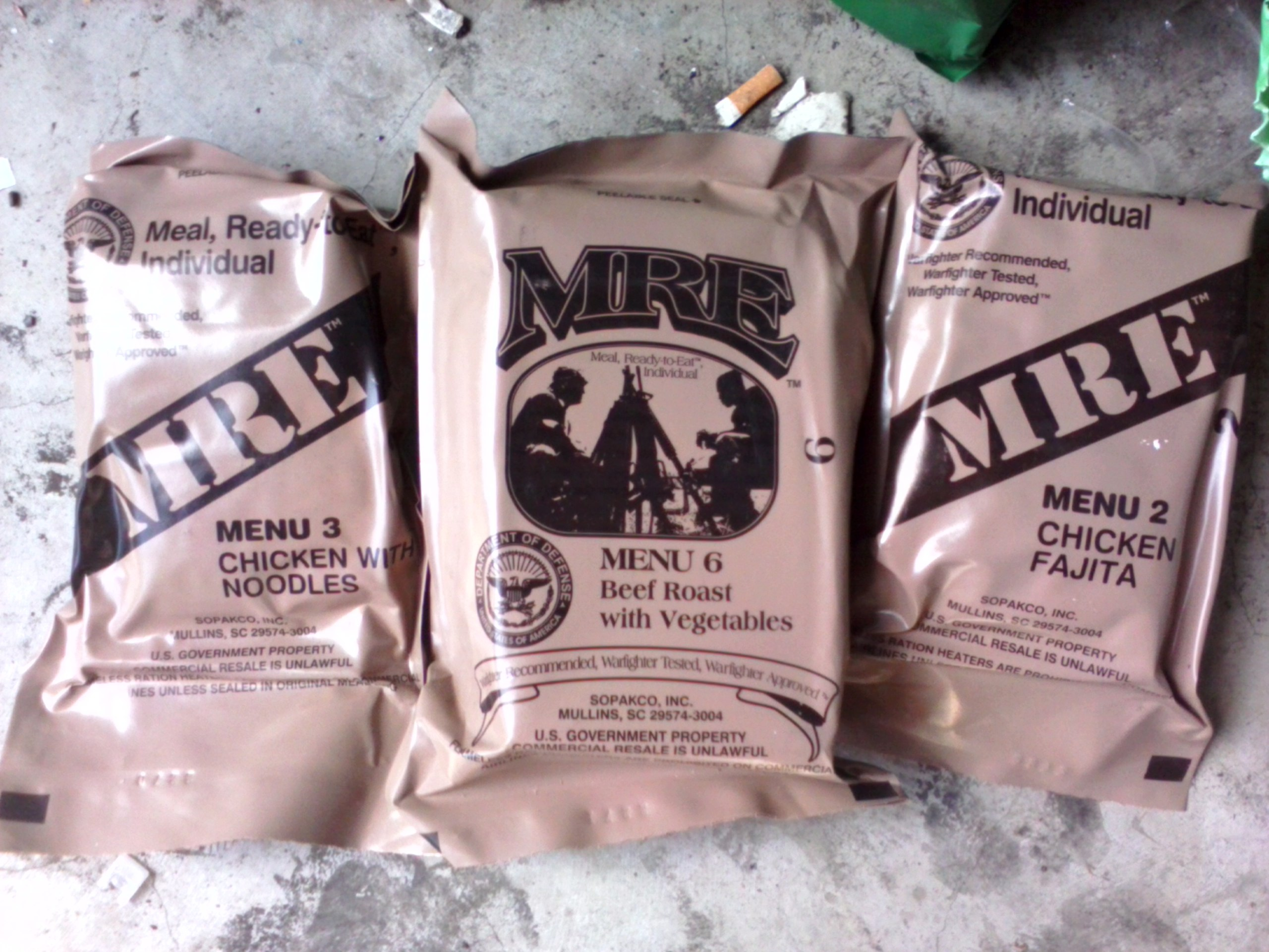 USA MRE, Ukrainian MRE, photo posted by Krivko on September 22 2014