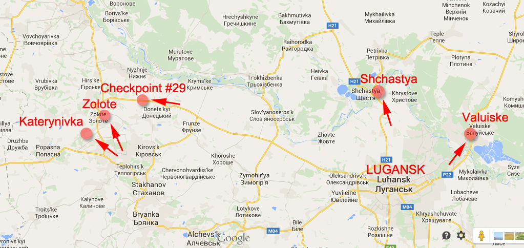 Russian attacks in Lugansk Region in the last 24 hours