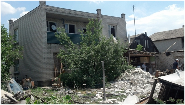 Destruction in Bobrove village after night shelling
