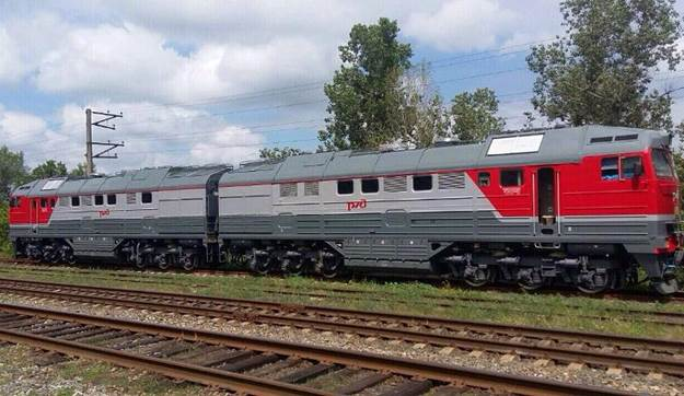Locomotive that criminals tried to get from Lugansk to Russia