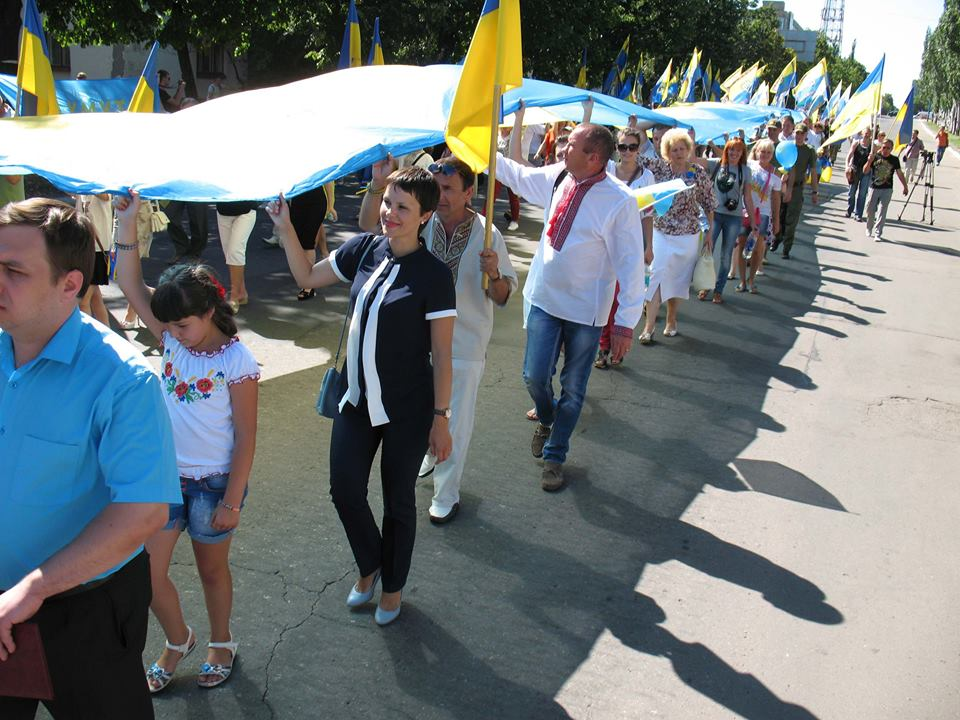 People of Lysychansk celebrate liberation from pro-Russian terrorists