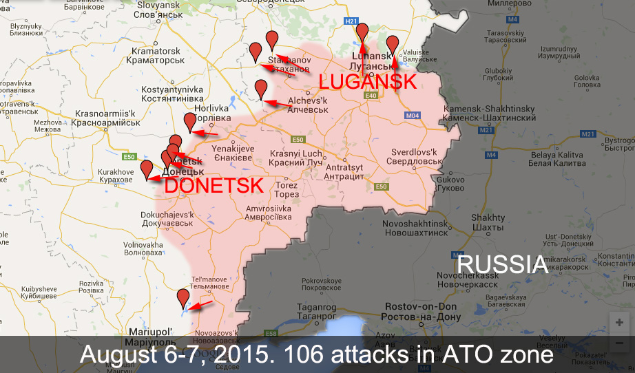 106 attacks in the last 24 hours in Donetsk and Lugansk Regions