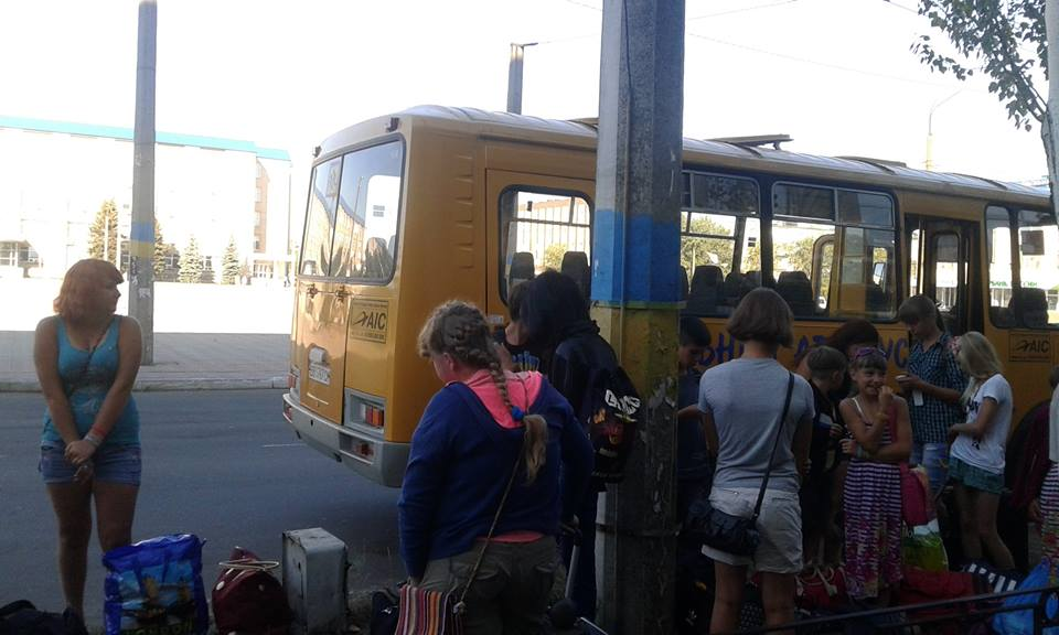 Kids from Lugansk Region go for vacation to summer camps around Ukraine