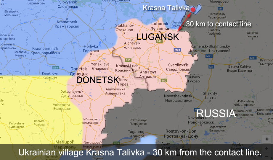 Krasna Talivka on a map