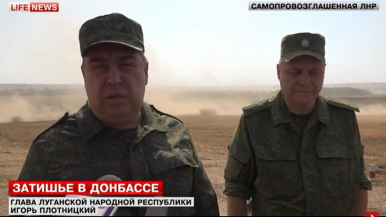 Igor Plotnitsiy explains the goal of tank training near Lugansk