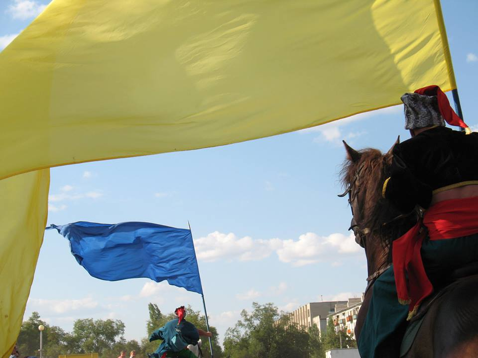 People of Severodonetsk celebrating Independence Day of Ukraine