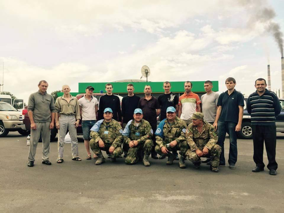 12 Ukrainian hostages released today during POW exchange near Donetsk