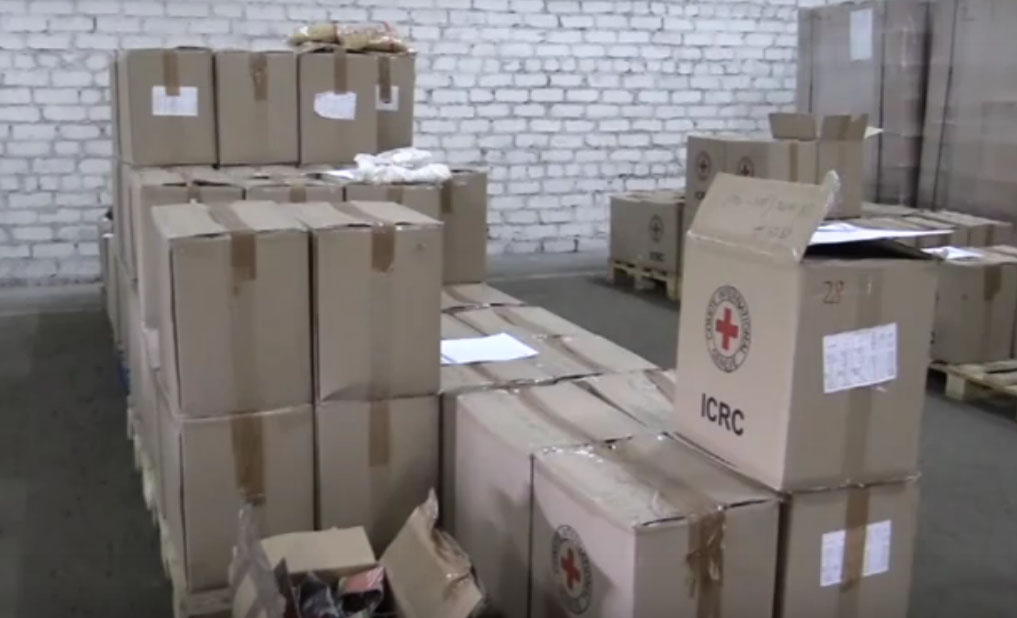 ICRC storehouse in Lugansk