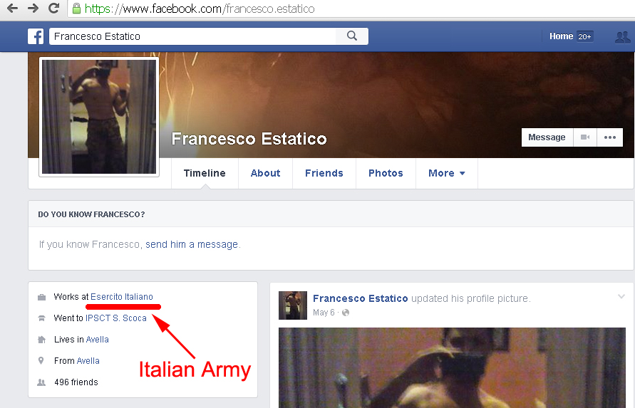 Francesco Estatico works at Italian Army