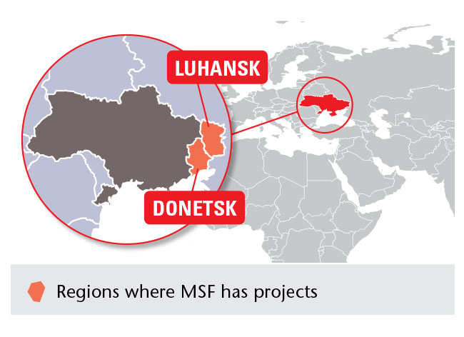 Projects of Doctors Without Borders (MSF) in Ukraine