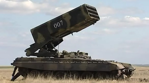 "TOS-1 ""Buratino"" during the military exercises in Russia"