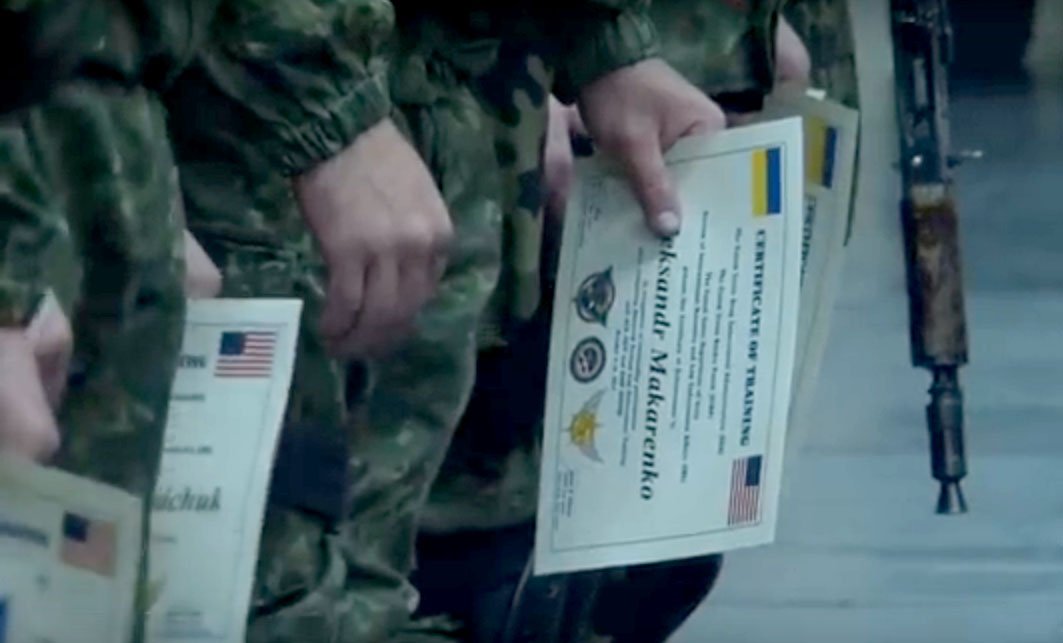 Certificates received by KORD officers after training with US instructors