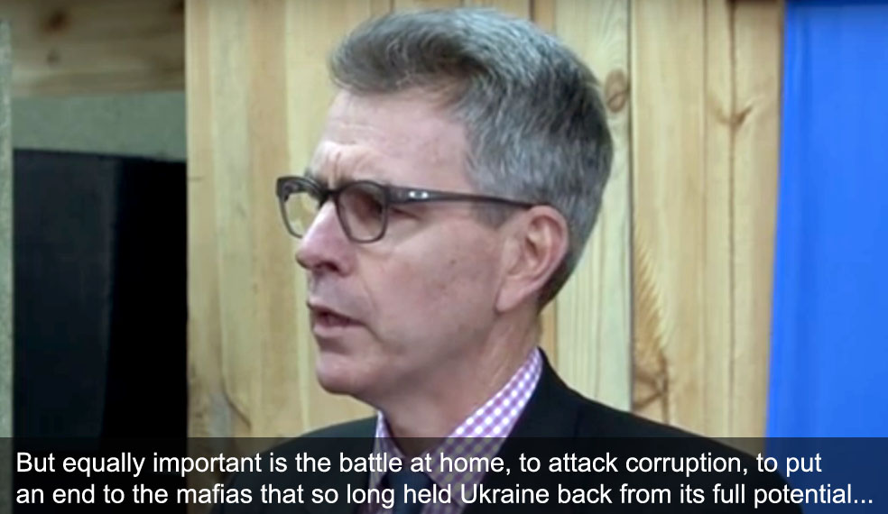 Geoffrey Pyatt, the United States Ambassador to Ukraine
