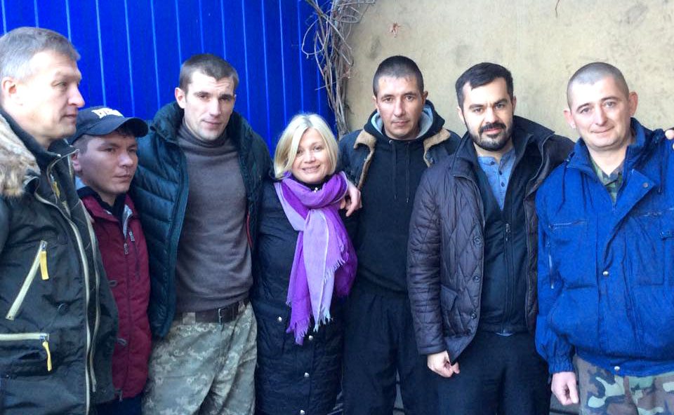 Iryna Gerashchenko and Ukrainian hostages released in Lugansk Region